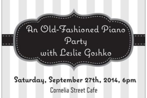 An Old-Fashioned Piano Party with Leslie Goshko
