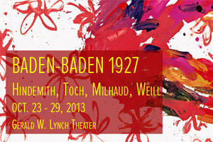 Not Your Grandma's Opera: Baden Baden 1927