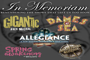 In Memoriam: Remembering Amazing Grace, Spring Awakening, and More
