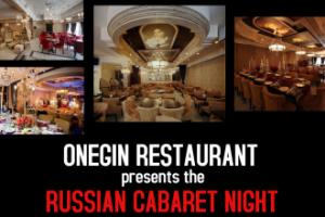 RUSSIAN CABARET NIGHT at ONEGIN featuring David Serero