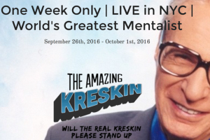 The Amazing Kreskin: Will The Real Kreskin Please Stand Up