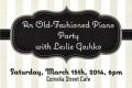 An Old-Fashioned Piano Party with Leslie Goshko Tickets - New York