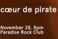Cœur de Pirate Tickets - Boston