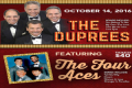 The Four Aces with The Duprees Tickets - New Jersey