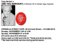 Tulis McCall's Are You Serious? - A Woman of a Certain Age Inquires Tickets - New York City