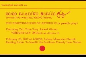 20/20 Reading Series: The Resistible Rise of Arturo Ui