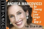 Andrea Marcovicci: I'll Be Seeing You...Love Songs of World War II