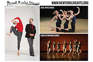 Ariel Rivka Dance, Carolyn Dorfman Dance Company, and Sean Curran