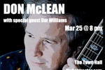 Don McLean with special guest Dar Williams