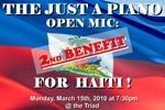 Just A Piano Open Mic: A 2nd Benefit For Haiti