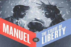 Manuel Versus the Statue of Liberty