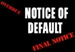 Notice of Default and Opportunity to Cure