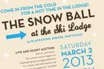 Snow Ball in the Ski Lodge