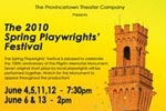 The 2010 Spring Playwrights' Festival