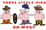 The Three Little Pigs Go West