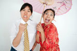 YBW - Yellow Brick Wall: Angry White Men Played by Two Happy Asian Girls