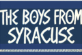 The Boys From Syracuse Tickets - New York