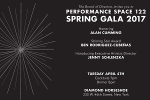 Performance Space 122 Spring Gala 2017