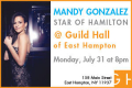 Mandy Gonzales in Concert Tickets - Hamptons