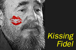 Kissing Fidel