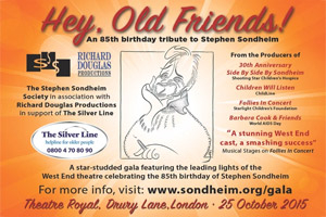 Hey, Old Friends! - An 85th Birthday Tribute to Stephen Sondheim