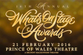 16th Annual WhatsOnStage Awards Tickets - London