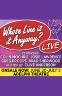 Whose Line is it Anyway? Tickets - West End