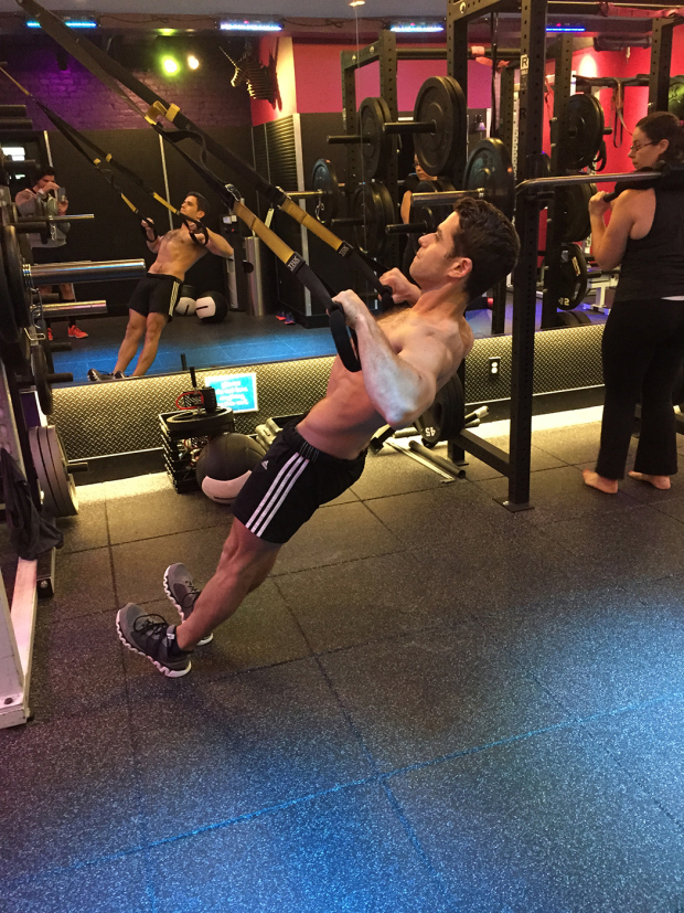 <p>Row it up, TRX style.