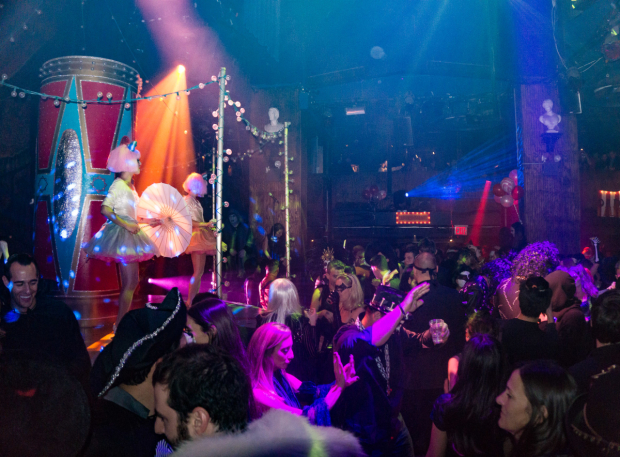 <p>Following a performance of <em>Sleep No More</em>, the McKittrick Hotel was transformed into a giant night club.</p><br />(© Seth Walters)