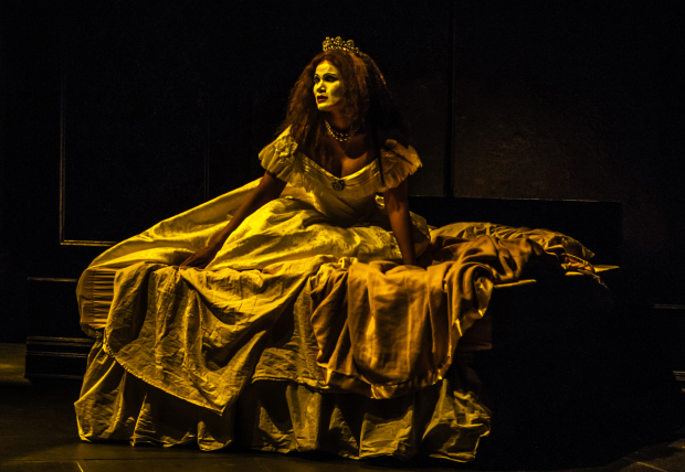 <p>January LaVoy as Duchess of Hapsburg in <em>Funnyhouse of a Negro</em>.</p><br />(© Monique Carboni)