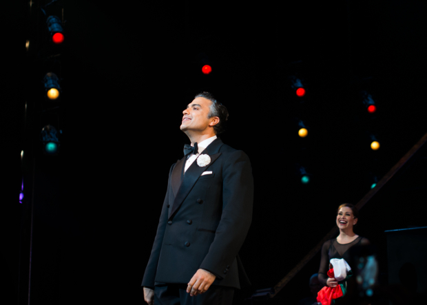 <p>Jaime Camil takes his bow as Billy Flynn in <em>Chicago</em>.</p><br />(© Allison Stock)