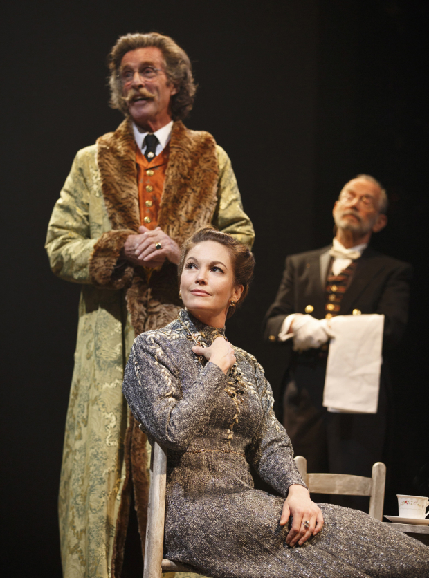<p>John Glover, Diane Lane, and Joel Grey star in <em>The Cherry Orchard</em>, opening at Broadway&#39&#x3B;s American Airlines Theatre October 16.</p><br />(© Joan Marcus)