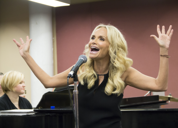 <p>Kristin Chenoweth and musical director Mary-Mitchell Campbell rehearse for Chenoweth&#39&#x3B;s Broadway return in <em>My Love Letter to Broadway</em>.</p><br />(© David Gordon)
