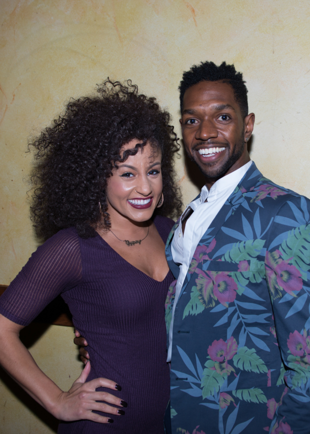 <p>Cast member Ramone Owens (right) poses with Talya Groves.</p><br />(© Allison Stock)
