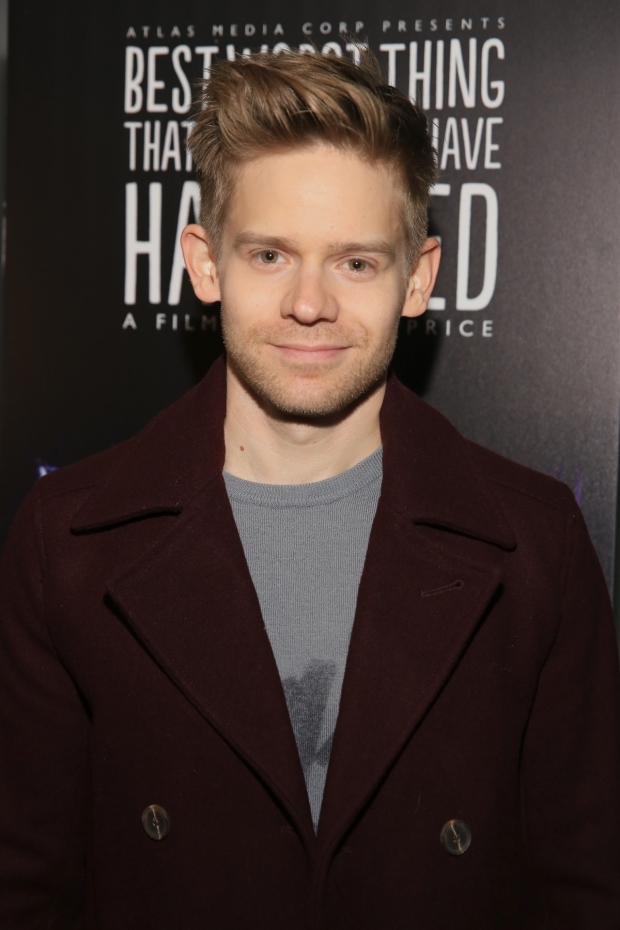 <p>Andrew Keenan-Bolger walks the red carpet.</p><br />(© Tricia Baron)