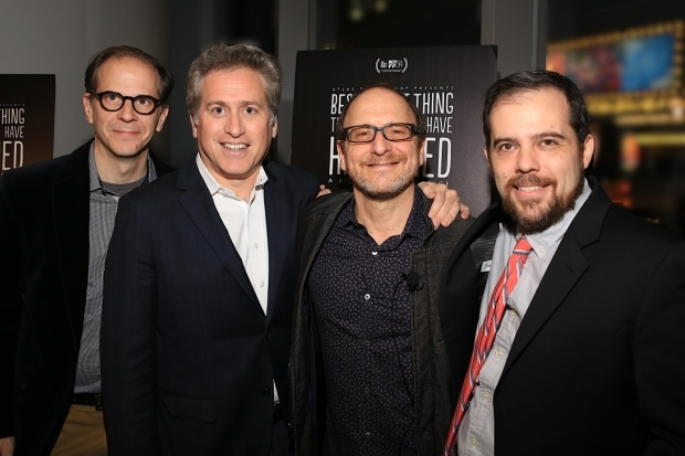 <p>The producers of <em>Best Worst Thing That Ever Could Have Happened</em>: Ted Schillinger, Bruce David Klein, Lonny Price, and Kitt Lavoie.</p><br />(© Tricia Baron)