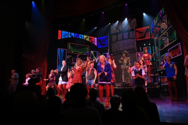 <p>The grand finale at <em>Kinky Boots</em>.</p><br />(© Tricia Baron)
