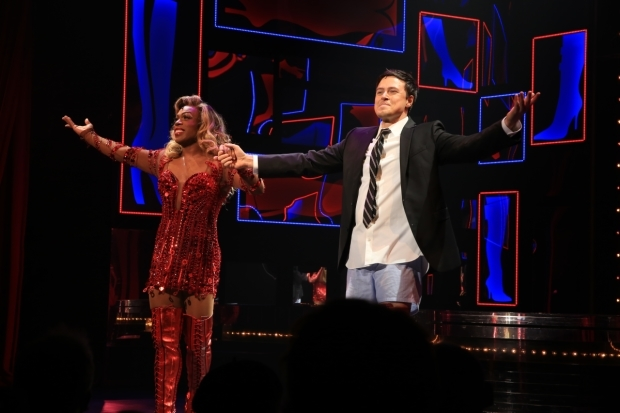 <p>Todrick Hall and Aaron C. Finley take their bow.</p><br />(© Tricia Baron)