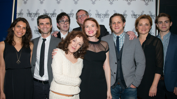 <p>Happy opening to the team of <em>This Day Forward</em>!</p><br />(© Allison Stock)