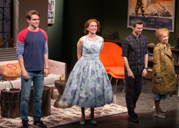 <p>Andrew Burnap, Holley Fain, Michael Crane, and June Gabel take a bow.</p><br />(© Allison Stock)