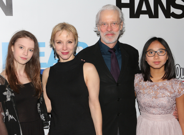 <p>Charlotte d&#39&#x3B;Amboise and Terrence Mann bring their daughters Shelby and Josephine to the show.</p><br />(© David Gordon)