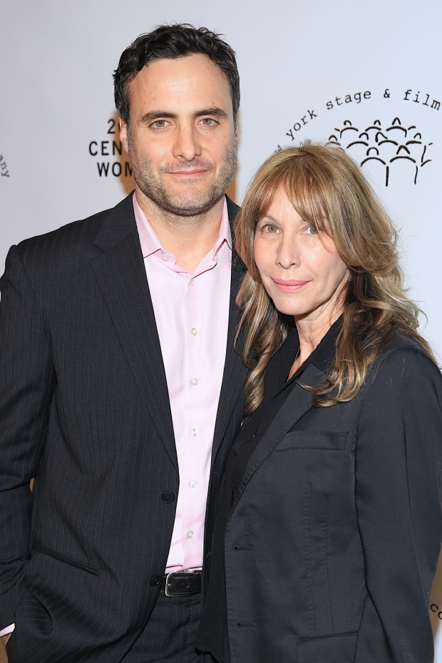 <p>Dominic Fumusa and Ilana Levine spend the night at the New York Stage and FiIm Gala.</p><br />(© Tricia Baron)