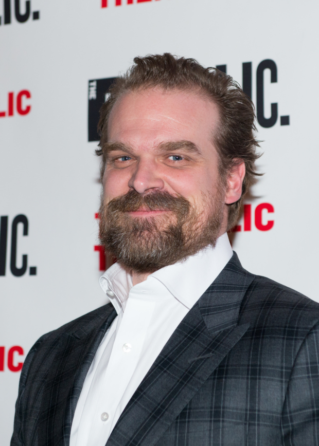 <p><em>Stranger Things</em> star David Harbour is on hand for the event.</p><br />(© Allison Stock)