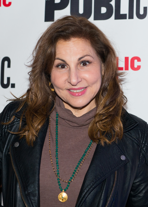 <p>Kathy Najimy poses for photos after the show.</p><br />(© Allison Stock)