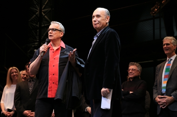 <p><em>Jersey Boys</em> writers Rick Elice and Marshall Brickman take the stage.</p><br />(© Tricia Baron)