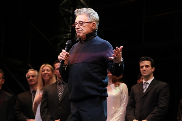 <p>Frankie Valli takes the stage for the final curtain call of <em>Jersey Boys</em>.</p><br />(© Tricia Baron)
