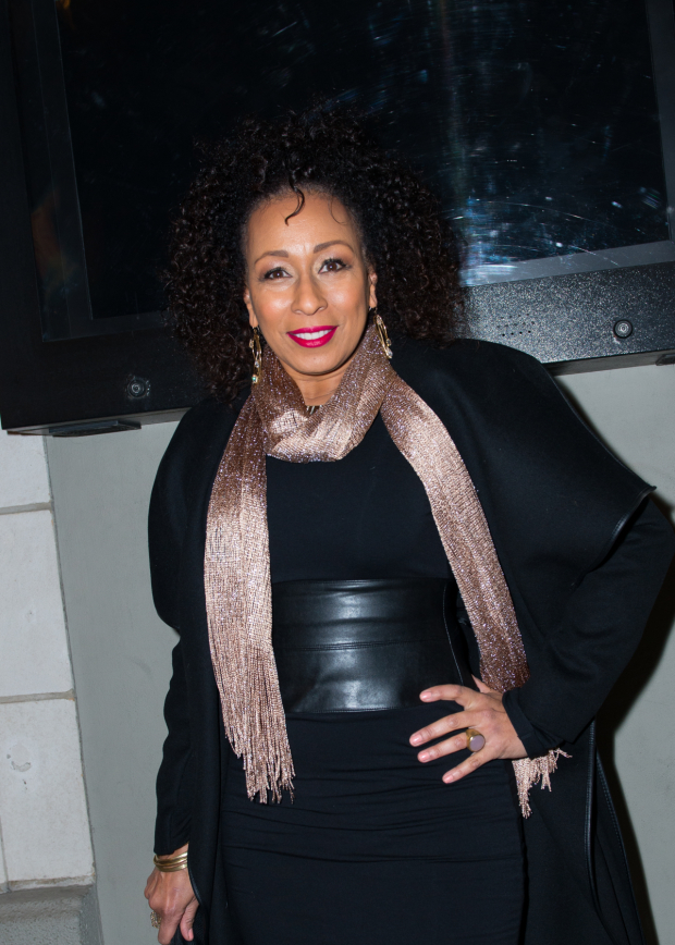 <p>Stage and screen favorite Tamara Tunie poses for photos.</p><br />(© Allison Stock)