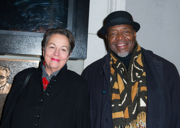<p>Deborah Brevoort and Chuck Cooper spend date night at the theater.</p><br />(© Allison Stock)