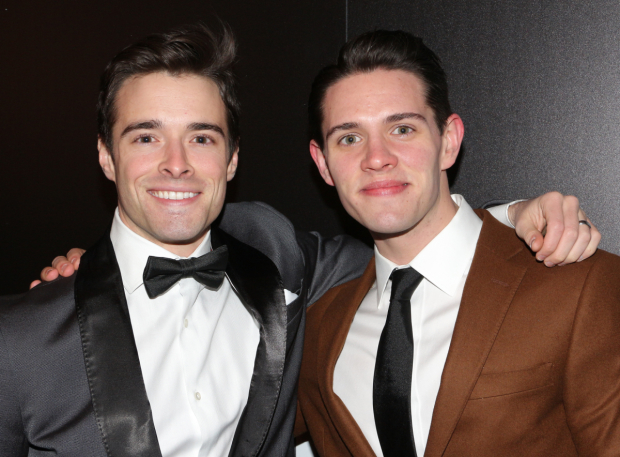 <p>Brothers Corey Cott and Casey Cott take in a show together.</p><br />(© David Gordon)