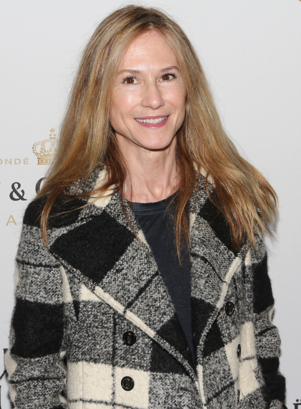 <p>Holly Hunter arrives at Broadway&#39&#x3B;s Hudson Theatre.</p><br />(© David Gordon)
